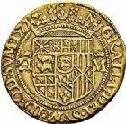 Photo numismatique  ARCHIVES VENTE 2015 -26-28 oct -Coll Jean Teitgen BEARN ET NAVARRE Seigneurie de BEARN HENRI II (1572-1589) 1358- Double ducat d'or, Pau 1577.