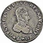 Photo numismatique  ARCHIVES VENTE 2015 -26-28 oct -Coll Jean Teitgen BÉARN ET NAVARRE Seigneurie de BEARN HENRI II (1572-1589) 1360- Demi-teston, Morlaàs 1573.