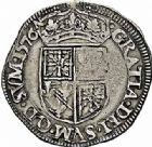 Photo numismatique  ARCHIVES VENTE 2015 -26-28 oct -Coll Jean Teitgen BEARN ET NAVARRE Seigneurie de BEARN HENRI II (1572-1589) 1361- Teston, Morlaàs 1576.