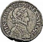 Photo numismatique  ARCHIVES VENTE 2015 -26-28 oct -Coll Jean Teitgen BEARN ET NAVARRE Seigneurie de BEARN HENRI II (1572-1589) 1362- Teston, Morlaàs 1576.