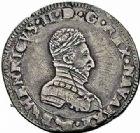 Photo numismatique  ARCHIVES VENTE 2015 -26-28 oct -Coll Jean Teitgen BEARN ET NAVARRE Seigneurie de BEARN HENRI II (1572-1589) 1363- Demi-teston, Morlaàs 1576.