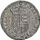 Photo numismatique  ARCHIVES VENTE 2015 -26-28 oct -Coll Jean Teitgen BEARN ET NAVARRE Seigneurie de BEARN HENRI II (1572-1589) 1363- Demi-teston, Morlaàs 1576.