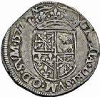 Photo numismatique  ARCHIVES VENTE 2015 -26-28 oct -Coll Jean Teitgen BEARN ET NAVARRE Seigneurie de BEARN HENRI II (1572-1589) 1364- Teston aux bustes affrontés, Morlaàs 1577.