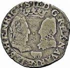 Photo numismatique  ARCHIVES VENTE 2015 -26-28 oct -Coll Jean Teitgen BÉARN ET NAVARRE Seigneurie de BEARN HENRI II (1572-1589) 1365- Demi-teston, Morlaàs 1577.