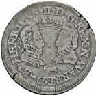 Photo numismatique  ARCHIVES VENTE 2015 -26-28 oct -Coll Jean Teitgen BEARN ET NAVARRE Seigneurie de BEARN HENRI II (1572-1589) 1366- Teston aux bustes affrontés, Moulin de Pau 1577.