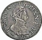 Photo numismatique  ARCHIVES VENTE 2015 -26-28 oct -Coll Jean Teitgen BEARN ET NAVARRE Seigneurie de BEARN HENRI II (1572-1589) 1367- Teston, Moulin de Pau 1574 (N).