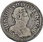 Photo numismatique  ARCHIVES VENTE 2015 -26-28 oct -Coll Jean Teitgen BÉARN ET NAVARRE Seigneurie de BEARN HENRI II (1572-1589) 1368- Teston, Moulin de Pau 1575 (A).