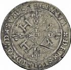 Photo numismatique  ARCHIVES VENTE 2015 -26-28 oct -Coll Jean Teitgen BÉARN ET NAVARRE Seigneurie de BEARN HENRI II (1572-1589) 1369- Franc aux H non couronnées et au buste allongé, Moulin de Pau, 1578.
