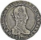 Photo numismatique  ARCHIVES VENTE 2015 -26-28 oct -Coll Jean Teitgen BÉARN ET NAVARRE Seigneurie de BEARN HENRI II (1572-1589) 1370- Demi-franc aux H non couronnées et au buste allongé, Moulin de Pau, 1578.