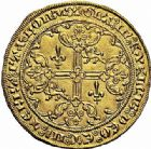 Photo numismatique  ARCHIVES VENTE 2015 -26-28 oct -Coll Jean Teitgen MONNAIES D'AQUITAINE MONNAYAGE FRANCO-ANGLAIS EDOUARD III (1327-1362) 1398- Guyennois d'or, Poitiers.