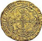 Photo numismatique  ARCHIVES VENTE 2015 -26-28 oct -Coll Jean Teitgen MONNAIES D'AQUITAINE MONNAYAGE FRANCO-ANGLAIS EDOUARD, prince de Galles dit le Prince Noir (1362-1372) 1399-  Léopard d'or.