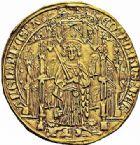 Photo numismatique  ARCHIVES VENTE 2015 -26-28 oct -Coll Jean Teitgen MONNAIES D'AQUITAINE MONNAYAGE FRANCO-ANGLAIS EDOUARD, prince de Galles dit le Prince Noir (1362-1372) 1400- Pavillon d'or, Bordeaux.