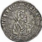 Photo numismatique  ARCHIVES VENTE 2015 -26-28 oct -Coll Jean Teitgen MONNAIES D'AQUITAINE MONNAYAGE FRANCO-ANGLAIS EDOUARD, prince de Galles dit le Prince Noir (1362-1372) 1402- 1/2 gros d'argent ou esterlin, La Rochelle, 2ème émission