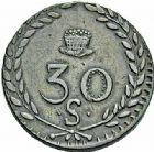 Photo numismatique  ARCHIVES VENTE 2015 -26-28 oct -Coll Jean Teitgen JETONS ET MEDAILLES DES MINES Mines d'ANICHE (Nord)  1409- 30 sols, 1820.