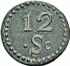 Photo numismatique  ARCHIVES VENTE 2015 -26-28 oct -Coll Jean Teitgen JETONS ET MEDAILLES DES MINES Mines d'ANICHE (Nord)  1410- 12 sols.