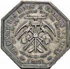 Photo numismatique  ARCHIVES VENTE 2015 -26-28 oct -Coll Jean Teitgen JETONS ET MÉDAILLES DES MINES Mines d'ANICHE (Nord)  1411- Jeton d'argent (daté 1774).