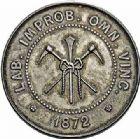 Photo numismatique  ARCHIVES VENTE 2015 -26-28 oct -Coll Jean Teitgen JETONS ET MEDAILLES DES MINES Mines d'ANICHE (Nord)  1412- Jeton de la Compagnie charbonnière douaisienne, 1872.