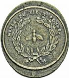 Photo numismatique  ARCHIVES VENTE 2015 -26-28 oct -Coll Jean Teitgen JETONS ET MEDAILLES DES MINES Mines de VIEUX-CONDE (Nord)  1422- Jeton de mineur oblong.