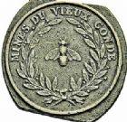 Photo numismatique  ARCHIVES VENTE 2015 -26-28 oct -Coll Jean Teitgen JETONS ET MEDAILLES DES MINES Mines de VIEUX-CONDE (Nord)  1423- Jetons de hercheur.