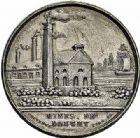 Photo numismatique  ARCHIVES VENTE 2015 -26-28 oct -Coll Jean Teitgen JETONS ET MEDAILLES DES MINES Mines de DOUCHY (Nord)  1424- Jeton de la découverte du charbon en 1834.