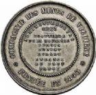 Photo numismatique  ARCHIVES VENTE 2015 -26-28 oct -Coll Jean Teitgen JETONS ET MEDAILLES DES MINES Mines de VICOIGNE (Nord) et NOEUX (Pas-de-Calais)  1425-  Jeton 1857.