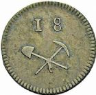 Photo numismatique  ARCHIVES VENTE 2015 -26-28 oct -Coll Jean Teitgen JETONS ET MÉDAILLES DES MINES Mines de LITTRY (Calvados)  1426- Jeton, valeur 18 sols.