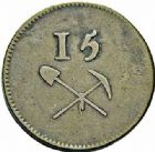 Photo numismatique  ARCHIVES VENTE 2015 -26-28 oct -Coll Jean Teitgen JETONS ET MÉDAILLES DES MINES Mines de LITTRY (Calvados)  1427- Jeton, valeur 15 sols.