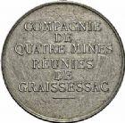 Photo numismatique  ARCHIVES VENTE 2015 -26-28 oct -Coll Jean Teitgen JETONS ET MÉDAILLES DES MINES Mines de GRAISSESSAC (Hérauly)  1435- Jeton, 1864.