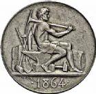 Photo numismatique  ARCHIVES VENTE 2015 -26-28 oct -Coll Jean Teitgen JETONS ET MEDAILLES DES MINES Mines de GRAISSESSAC (Hérauly)  1435- Jeton, 1864.