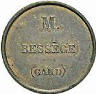 Photo numismatique  ARCHIVES VENTE 2015 -26-28 oct -Coll Jean Teitgen JETONS ET MEDAILLES DES MINES Mines de ROBIAC (Gard)  1436- Jeton.