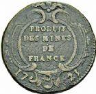 Photo numismatique  ARCHIVES VENTE 2015 -26-28 oct -Coll Jean Teitgen JETONS ET MEDAILLES DES MINES Mines METALLIQUES Mines de l'arrond. d'OLORON (Pyrénées-Atlantiques) 1438- Sol du BÉARN de seize deniers, Pau, 1723.