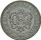 Photo numismatique  ARCHIVES VENTE 2015 -26-28 oct -Coll Jean Teitgen JETONS ET MEDAILLES DES MINES Mines METALLIQUES Mines de l'Argentière - Les BORMETTES (Var) 1439-5centimes, 1887.