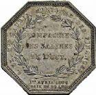 Photo numismatique  ARCHIVES VENTE 2015 -26-28 oct -Coll Jean Teitgen JETONS ET MEDAILLES DES MINES SALINES de l'EST  1441- Jeton Napoléon Ier, 1806.