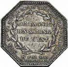 Photo numismatique  ARCHIVES VENTE 2015 -26-28 oct -Coll Jean Teitgen JETONS ET MÉDAILLES DES MINES SALINES de l'EST  1443- Louis XVIII. Jetons (2 variétés).