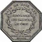 Photo numismatique  ARCHIVES VENTE 2015 -26-28 oct -Coll Jean Teitgen JETONS ET MEDAILLES DES MINES SALINES de l'EST  1443- Louis XVIII. Jetons (2 variétés).