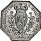 Photo numismatique  ARCHIVES VENTE 2015 -26-28 oct -Coll Jean Teitgen JETONS ET MEDAILLES DES MINES SALINES de l'EST  1444- Ordonnance royale du 2 janvier 1825. Jeton, 1826.
