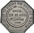 Photo numismatique  ARCHIVES VENTE 2015 -26-28 oct -Coll Jean Teitgen JETONS ET MÉDAILLES DES MINES SALINES de l'EST  1444- Ordonnance royale du 2 janvier 1825. Jeton, 1826.