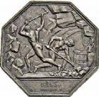 Photo numismatique  ARCHIVES VENTE 2015 -26-28 oct -Coll Jean Teitgen JETONS ET MEDAILLES DES MINES Commerce du charbon et des produits des mines Approvisionnement de Paris 1449-  Jeton, 1813.