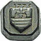 Photo numismatique  ARCHIVES VENTE 2015 -26-28 oct -Coll Jean Teitgen SYSTEMES DE PESAGE POIDS DE VILLES BÉZIERS (Hérault) 1463- Livre, 1775.