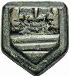 Photo numismatique  ARCHIVES VENTE 2015 -26-28 oct -Coll Jean Teitgen SYSTEMES DE PESAGE POIDS DE VILLES BÉZIERS (Hérault) 1465- Huitième de livre (XVIIIe siècle).