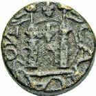 Photo numismatique  ARCHIVES VENTE 2015 -26-28 oct -Coll Jean Teitgen SYSTEMES DE PESAGE POIDS DE VILLES CARCASSONNE (Aude) 1469- Émission de 1555, 1er type au nom d'Henri II. Demi-quart de livre.