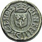 Photo numismatique  ARCHIVES VENTE 2015 -26-28 oct -Coll Jean Teitgen SYSTEMES DE PESAGE POIDS DE VILLES CARCASSONNE (Aude) 1470- Émission de 1578, au nom d'Henri III. Quart de livre.