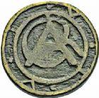 Photo numismatique  ARCHIVES VENTE 2015 -26-28 oct -Coll Jean Teitgen SYSTEMES DE PESAGE POIDS DE VILLES CARCASSONNE (Aude) 1473- Demi-livre non datée (à rattacher à 1675).
