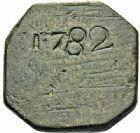 Photo numismatique  ARCHIVES VENTE 2015 -26-28 oct -Coll Jean Teitgen SYSTEMES DE PESAGE POIDS DE VILLES MONTPELLIER (Hérault) 1480- Quart de Livre du 8ème type, 1782.