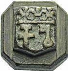 Photo numismatique  ARCHIVES VENTE 2015 -26-28 oct -Coll Jean Teitgen SYSTEMES DE PESAGE POIDS DE VILLES NARBONNE (Aude) 1484- Demi-Livre, datée en creux 1790.
