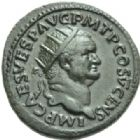 Photo numismatique  MONNAIES EMPIRE ROMAIN VESPASIEN (69-79)  Dupondius, Rome 74.