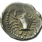 Photo numismatique  MONNAIES GAULE - CELTES MARSEILLE Type du trésor d'Auriol (Ve siècle) Hémiobole de type milésiaque (475-465).