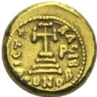 Photo numismatique  MONNAIES EMPIRE BYZANTIN CONSTANS II et CONSTANTIN IV (654-659)  Solidus, Carthage.