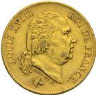 Photo numismatique  MONNAIES MODERNES FRANÇAISES LOUIS XVIII, 2e restauration (8 juillet 1815-16 septembre 1824)  40 francs or, Lille 1818.