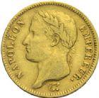 Photo numismatique  MONNAIES MODERNES FRANÇAISES NAPOLEON Ier, empereur (18 mai 1804- 6 avril 1814)  40 francs or, Paris 1812.
